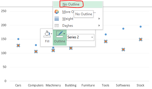 excel how to create a threshold line